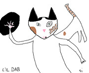 Cat Paw Digital Art Posters - Lil Dab Poster by Anita Dale Livaditis
