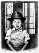 Gangster Drawings - Lil Tough Guy by Todd Spaur
