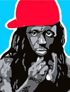 Rapper Digital Art - Lil Wayne by Ashley Greer