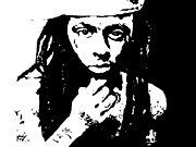 Lil Wayne Portraits Paintings - Lil Wayne  by Cherise Foster