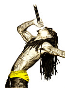 Lil Wayne Prints - Lil Wayne Print by Michael Durocher