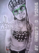 Lil Wayne Drawings Originals - Lil Wayne by Monty Virge