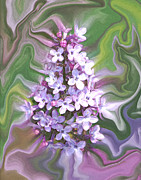 Lilac Digital Art Prints - Lilac Abstract Print by Ernie Echols