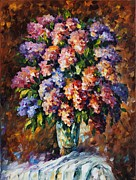 Leonid Posters - Lilac - Palette Knife Oil Painting On Canvas By Leonid Afremov Poster by Leonid Afremov