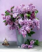 Lilac Spring Print by Yvonne Della-Moretta