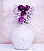 Lilacs And Roses Print by Marsha Heiken
