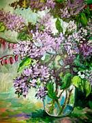 Lilacs Print by Carol Mangano