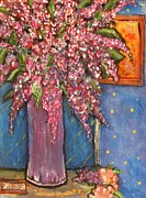 Chaline Ouellet - Lilacs In Purple Vase