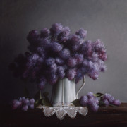 Pitcher Painting Prints - LILACS study no.2 Print by Larry Preston