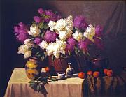 David Olander - Lilacs with Teapot and...