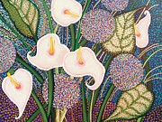 Peach Originals - Lilies Growing Wild by Jo Ann Bledsoe-Nackley