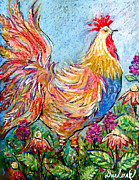 Renoir Mixed Media - Lillic Rooster by Darlene Bevill