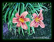 Michaela Preston Metal Prints - Lilly Metal Print by Michaela Preston