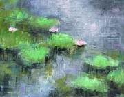 Water Lilly's  Print by Frances Marino