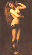 Christ Images Posters - Lilth Poster by John Collier