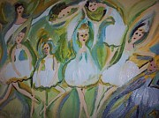 Ballet Dancers Paintings - Lily allegro ballet by Judith Desrosiers