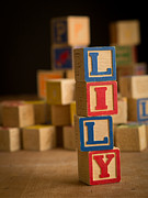 Alphabet Art - LILY - Alphabet Blocks by Edward Fielding