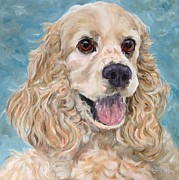 English Cocker Spaniel Posters - Lily B - Cocker Spaniel Poster by Betsy Doody