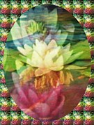 Waterlily Poster Posters - Lily Birth Poster by PainterArtist FIN