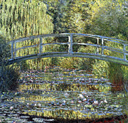 Pond And Trees Painting Acrylic Prints - Lily Bridge Acrylic Print by Claude Monet