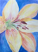 Occasion Paintings - Lily in blue by Sonali Gangane