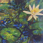 Featured Mixed Media Acrylic Prints - Lily Pad Acrylic Print by Constance Kerwick-Kearns