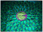 Bed Quilt Tapestries - Textiles - Lily Pad Quilt by Donna Huntriss