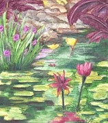 Works Drawings - Lily Pads - Study by Cris Johnson