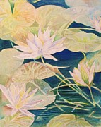 Golds Painting Posters - Lily Pond Poster by Beth Fischer