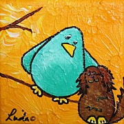 Limb Birds - Bird Dog Print by Linda Eversole