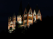 Limburg Photo Prints - Limburg Cathedral at night Print by Jenny Setchell
