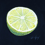 Lime Painting Framed Prints - Lime Framed Print by Aaron Spong