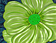 Big 5 Digital Art Prints - Lime Green Flower - Florist - Gardener Print by Barbara Griffin