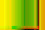 Lime Digital Art - Lime Green Yellow Orange Lines Abstract by Natalie Kinnear