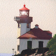 Lime Kiln Lighthouse Print by John Hines