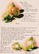 Fresh Vegetables Painting Posters - Limoncello Lqueur  Poster by Alessandra Andrisani