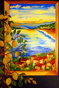 Limoni Prints - Limoni and the lake Print by Roberto Gagliardi