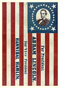 Abraham Lincoln Framed Prints - Lincoln 1860 Presidential Campaign Banner Framed Print by John Stephens