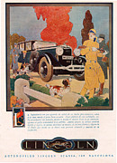 Lincoln 1929 1920s Usa Cc Cars Hunting Print by The Advertising Archives