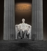 Lincoln Speech Posters - Lincoln and Columns Poster by Jerry Fornarotto