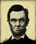 Abraham Lincoln Portrait Digital Art - Lincoln by Austin Phillips