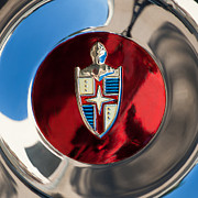 Lincoln Photos Prints - Lincoln Capri Wheel Emblem Print by Jill Reger
