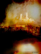 Stone Buildings Mixed Media - Lincoln Cathedral by Chris Knights