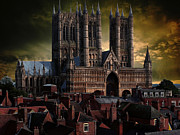 Lincoln Cathedral Print by Martin Billings