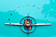 Classic Car Photography Art - Lincoln Continental Rear Emblem by Jill Reger