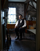 Lawyer Prints - Lincoln in the Attic 2 Print by Ray Downing