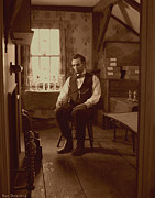 Abraham Lincoln Pictures Metal Prints - Lincoln in the Attic Metal Print by Ray Downing