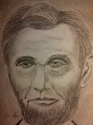 President Lincoln Drawings - Lincoln by Irving Starr