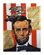 Gettysburg Painting Framed Prints - Lincoln Framed Print by John Lautermilch