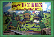 Cowboy Photos Prints - Lincoln Logs The American Toy Print by Thomas Woolworth